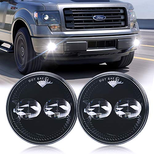 Ford Round Led fog lights for Ford F150 F-150 20011-2014 Ford Ranger 2008-2011 Ford Expedition 2007-2014 Fog Light Lamps Replacement kit(Pair)