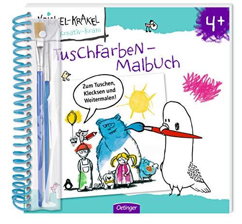 Krickel-Krakel Tuschfarben-Malbuch
