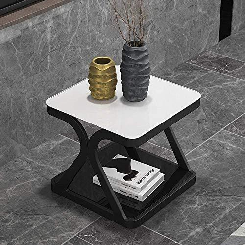 Mesa de centro para TV, mesa de teléfono, mesa auxiliar de roble, armario de mesa, mesa de té, mesa esquinera, mesa de salón de mesa, mesa de cristal de hierro, MK