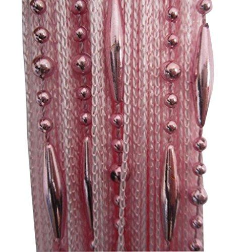 Tangpan Decorative Dew Drop Beadeds Door Curtain Divider (Pink)