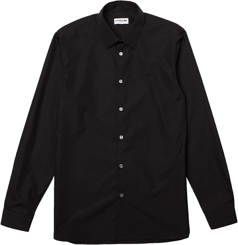 Lacoste Men's Dress Shirts Black M