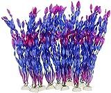 Planta artificial para acuario, 10 unidades, color lila