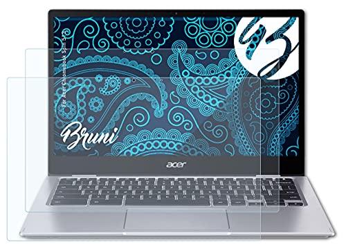 Bruni Schutzfolie kompatibel mit Acer Chromebook Spin 513 Folie, glasklare Bildschirmschutzfolie (2X)