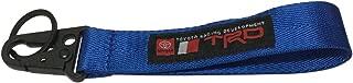 1pcs Blue TRD Keychain Rope Strap Weave Keyring