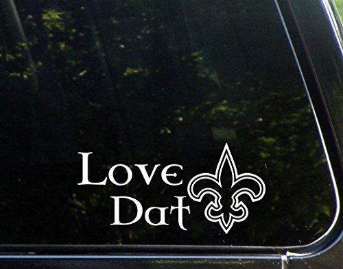 "Sweet Tea Decals Love Dat - 7 1/2"" x 3 3/4"" - Vinyl Die Cut Decal/Bumper Sticker for Windows, Trucks, Cars, Laptops, Macbooks, Etc."