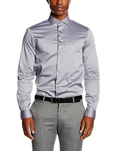Calvin Klein Norwich Slim Fit Ftc, Camicia Formale Uomo, Grau (BARLEY 065), 38 (taglia Produttore: 38)