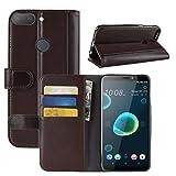 HualuBro HTC Desire 12 Plus Case, Genuine Leather Handmade
