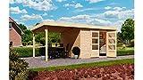 Haus Arnis 3-System Abmessungen (B x T): 242x 217cm Dicke: 19mm Mit seitlichem Dach Schlepp