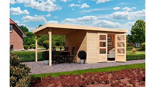KARIBU Gartenhaus Arnis 5, BxT: 302 x 246 cm, mit Schleppdach (ca. 220 cm breit) Natur