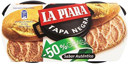 La Piara - Paté de hígado de cerdo - Tapa negra - 2 x 73 g - [pack de 3]