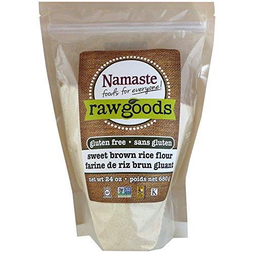 Namaste Foods Sweet Brown Rice Flour, Gluten Free, 24 Ounces (Pack of 6) – Allergen Free
