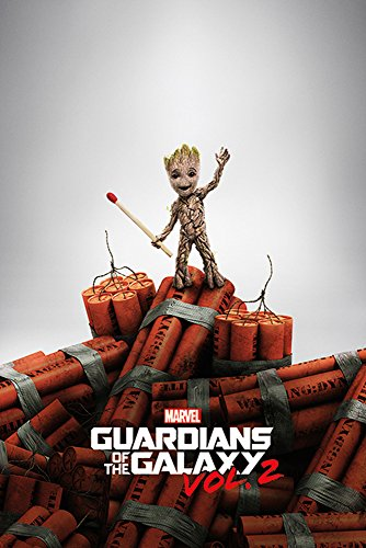 Guardians of The Galaxy 2 - Groot Dynamite - Space Film Poster Plakat Druck - Größe 61x91,5 cm + 1 Ü-Poster der Grösse 61x91,5cm