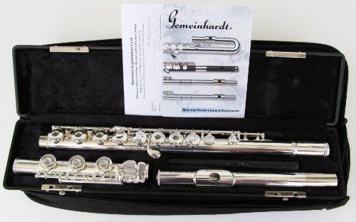 Gemeinhardt Model 3B Flute Open Hole, Inline G, B Foot, Silver Plated