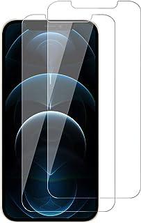 【2枚セット】iPhone 12 pro max ガラスフィルム iPhone12 pro max 液晶保護フイルム 日本製素材旭硝子製/9H硬度/3DTouch対応/99%透過率/自動吸着/スクラッチ防止/気泡ゼロ/防指紋・防水・耐油・飛散防...