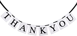 MagicW Thank You Bunting Wedding Banner Wedding Party Banner Garland Sign Photo Props Hanging D¨¦cor Wedding Party Decoration