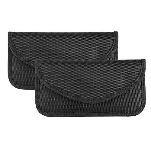 Laiashley - Bolsa de bloqueo de señal, paquete de 2 bolsas para GPS RFID Faraday, funda para teléfono celular, protección de privacidad y llave de coche, antirastreo y antiespionaje