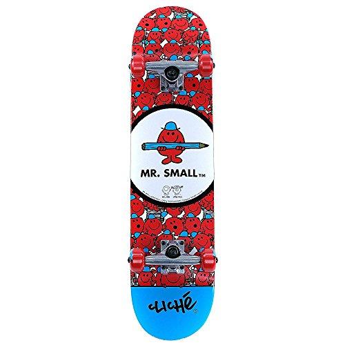 Cliche Mr Men Mr Small Factory complete skateboard 19,1cm di larghezza, configurazione completamente assemblato