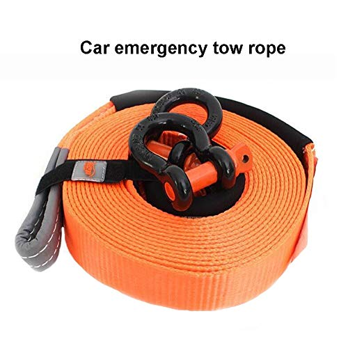 Great Price! Gjjtcd Tow Rope, Towing Ropes Trailer with car Traction Straps Nylon Heavy Duty Recycli...