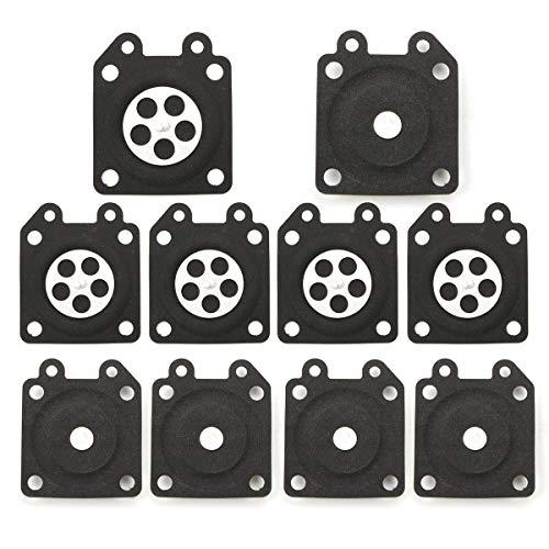 RUIXINLI Piezas de Repuesto del carburador 10 PCS Juntas de carburador Montaje de diafragma de medición para Walbro 95-526 Piezas de Repuesto