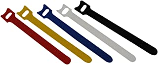 QualGear Hook & Loop Fastening Cable Ties, 1/2 x 6 inches, Assorted Colors, 5 pcs (VT3-MC-5-P)