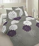 Rubio Costa Dalia - Juego de cama (funda nórdica de 220 x 200 cm y 2 fundas de almohada de 70 x 80 cm, 100% algodón satinado, cama de matrimonio)
