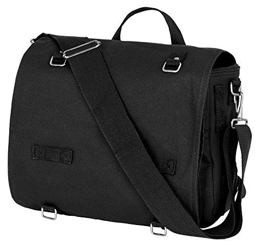 BW Kampftasche gross Umhängetasche Canvas Bag in vielen Farben Schwarz OneSize
