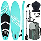 FBSPORT Tabla Sup Hinchable, Hinchable de Paddle Surf, Tabla de Surf Hinchable, Sup Kit con Remo de Aluminio + Bomba +Asiento de Kayak+Accesorios Completos | Medidas: 300×76×15cm