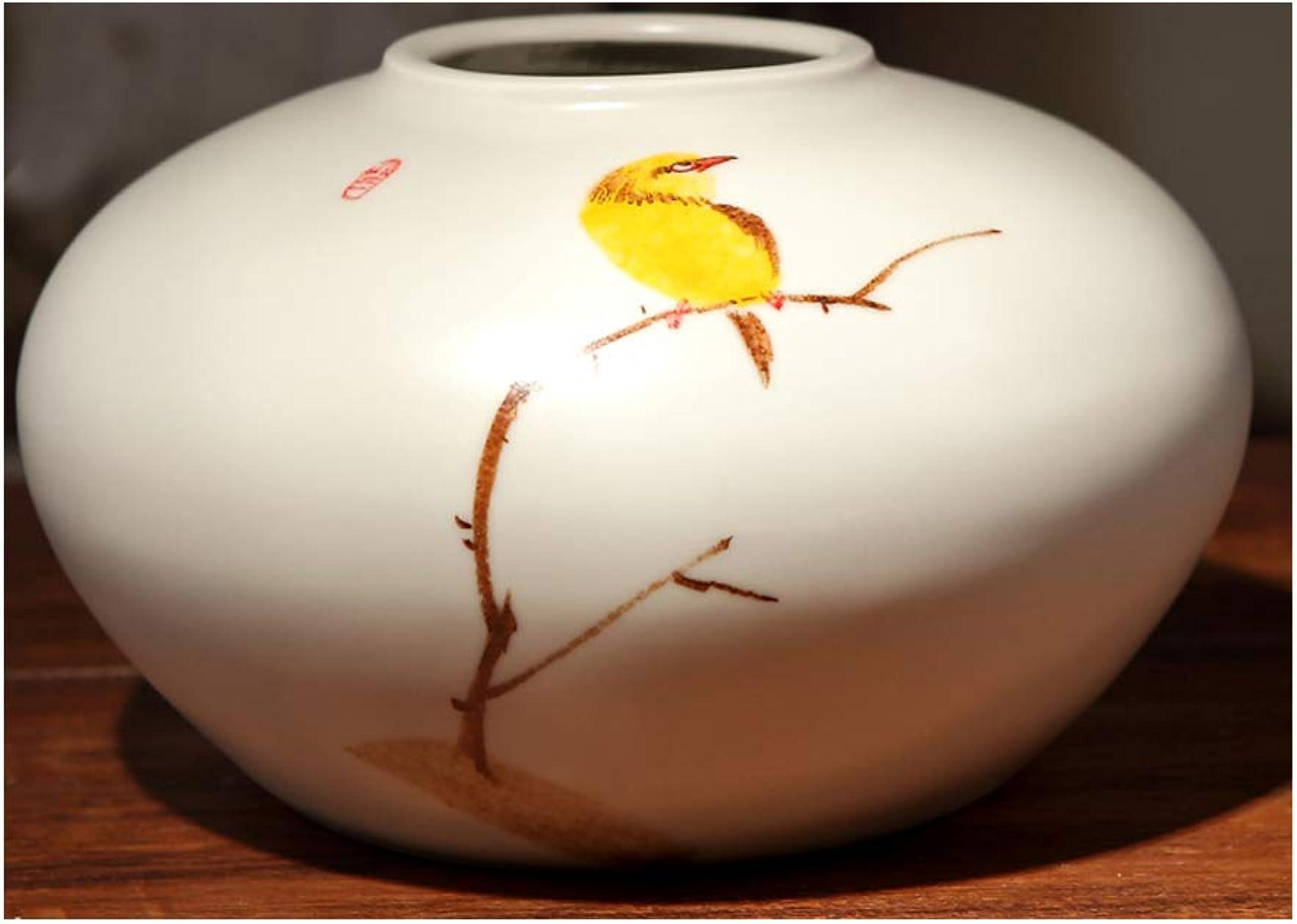 Décoration De Bureau Illustrateur Vase en Céramique Peinture à La Main Adapté pour Vase De Plantes Hydroponiques LYLLYL (Taille   8×12×21cm)
