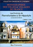 Les environs de Pierrefontaine et de Saint-Hippolyte - La baronnie de Belvoir