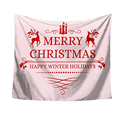 Gaddrt Tapisserie de fête de Noël, mur accrochant à la maison décors couvre-lit rideau de douche, 150x130cm (H-1)
