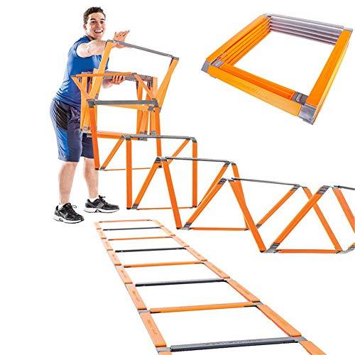 XIONGGG Plegable Escalera De Agilidad, Flexibilidad Escalera De Agilidad De Fútbol Equipo De Ejercicio, para Los Equipos, Atletas, Personas Y Niños
