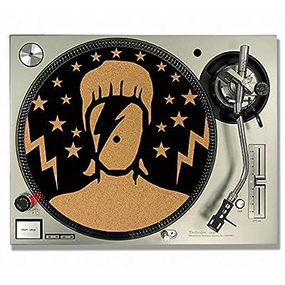 DAVID BOWIE Ziggy Stardust CORK DJ SLIPMATS / Turntable SLIP MATS - Vinyl