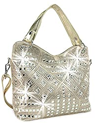 Gold Geometric Gem Sparkle Purse