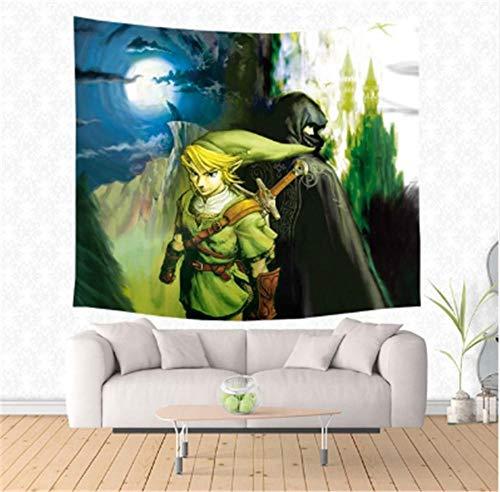 HYSGT Wandteppiche, Anime The Legend of Zelda Gedruckt Wandbehang Wohnkultur Strandtuch Werfen Teppich Picknickdecke Yogamatte Tagesdecke Tapisserie @ F 150X200 cm