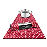 Fennoma Hotrun 2 in 1 Trivet and Decorative Table Runner Handles Heat Up to 356F, Anti Slip, Waterproof, and Convenient for Hot Dishes and Pots (Deco Floral)