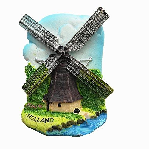 Imán de nevera 3D Holanda Holanda Holanda Holanda Holanda Holanda Netherlands Souvenir Decor Home & Kitchen Decor Imán para nevera