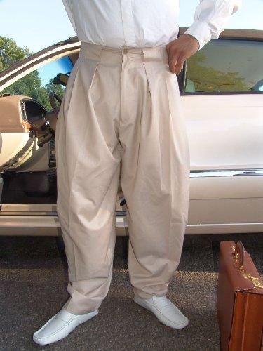 Il Padrino Moda Luxus Mafia Hose - beige - Boogie Swing, 56