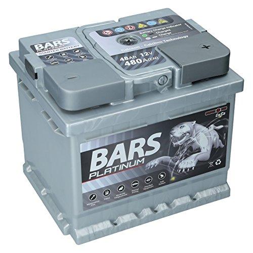 Autobatterie 12V 48Ah 480A Bars Platinum Starterbatterie Wartungsfrei