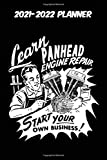 2021-2022 Planner - Learn Panhead Engine Repair Start Your Own Business: Vintage Retro Harley Davidson VTwin themed old styled super cool matte black ... 115 pages of glorious gear head nostalgia. u
