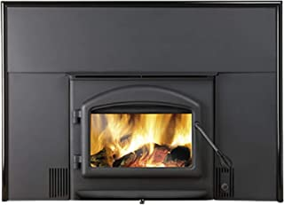 """Napoleon Oakdale Series EPI-1101M 45"""" Natural Vent Wood Burning Fireplace Insert with Up to 55 000 BTU's EPA Certified Airwash System Full Refractory Lined Firebox WHISPER QUIET Blo"""