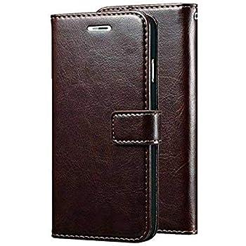 PAKME XUSIVE Leather Wallet Flip Book Cover Case for Vivo Z1X (Coffee)