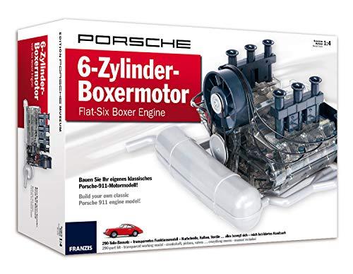 Franzis Porsche 6-Zylinder-Boxermotor - Flat-Six Boxer Engine: Bauen Sie Ihr eigenes klassisches Porsche-911-Motormodell | Build your own classic Porsche 911 engine model! | Ab 14 Jahren