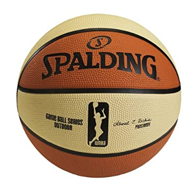Spalding WNBA 6-Panel Design Outdoor Basketball, 28.5in 73774