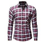 Camisa de Franela de Manga Larga para Hombres Camisa de leñador Material de algodón puro Streetwear Male Shirt puede regalar a amigos,familiares,colegas,día del padre,día de San Valentín,Navidadregalo
