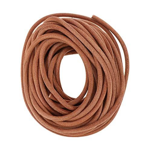 IPOTCH Collares de Cadena Trenzada de 10m con Cordón Trenzado para Hombres Y Mujeres,Cordon de Cuero - 5mm