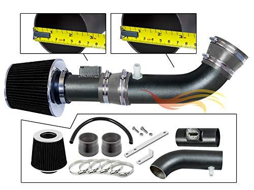 Ares Motorsports MATTE BLACK PIPE GRAY - SHORT RAM INTAKE Compatible For 04-11 Compatible Ford RANGER/MAZDA B4000 4.0L VCWSI-FD-V17GYB
