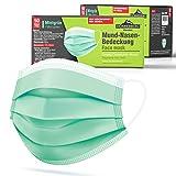 Donnerberg Gesichtsmaske 50 Stück 3-lagige Einwegmasken Atmungsaktiv Einmalmaske elastische...