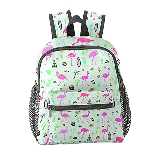 Flamingo Bird Summer Pattern Backpack for Boys and Girls Perfect Size for Travel