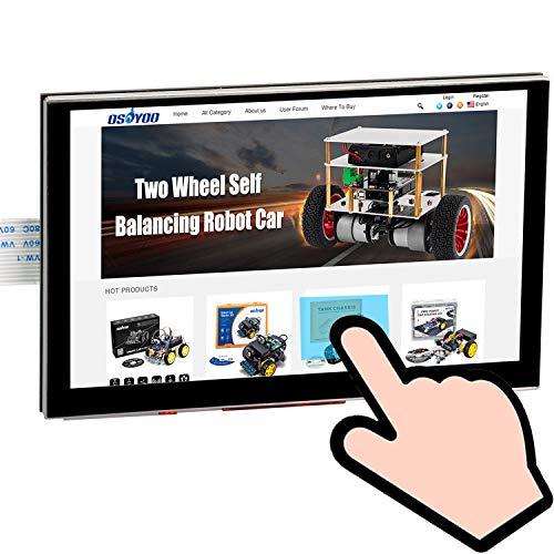 『OSOYOO 5インチTFT タッチスクリーン| DSIコネクタ| LCDディスプレイモニター |800×480解像度| ラズベリーパイ2 3 3B+ raspberry pi 4 用 |日本語説明書付き』のトップ画像