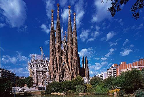 VGFTP Volwassen legpuzzels 1000 stukjes, houten puzzel, huisdecoraties Leuke spellen Geweldig educatief cadeau voor kinderen - Sagrada Familia